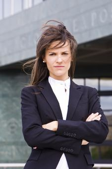 Free Young Serious Businesswoman Royalty Free Stock Photography - 5517397