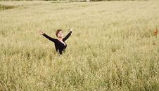 Freedom On The Field Royalty Free Stock Photography