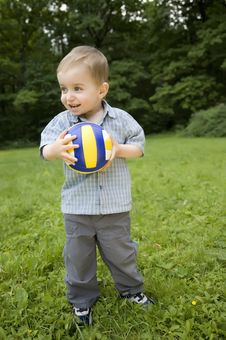 Free The Boy With A Ball Stock Photography - 5517712