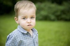 Free Serious Boy Royalty Free Stock Photography - 5517757
