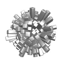 Free Cubes Sphere Royalty Free Stock Photo - 5518155