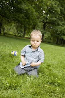 Free The Child After Game Royalty Free Stock Photo - 5518505