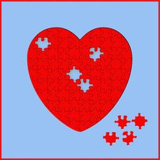 Free Heart Puzzle Royalty Free Stock Photo - 5519325