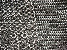 Free Two Different Patterns Of Antique Chain Mail Royalty Free Stock Photo - 5519495