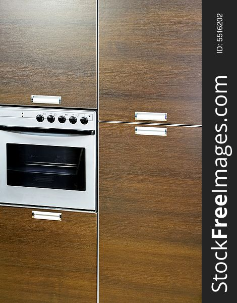 Oven in cabinet