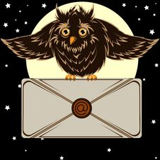 Free Owl With The Letter Stock Photos - 55192203