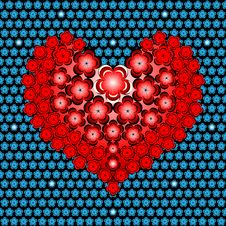 Free Flower Heart Stock Images - 55192224
