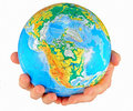 Free Globe, In A Center America Stock Photos - 5522803