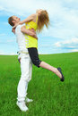 Free Young Couple Playing Royalty Free Stock Photos - 5523628