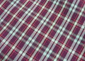 Free Checkered Fabric Close Up. Stock Image - 5524201