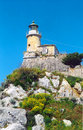 Free Old Lighthouse On The Point Royalty Free Stock Photography - 5525427