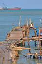 Free Wooden Stilt Series Stock Images - 5528384