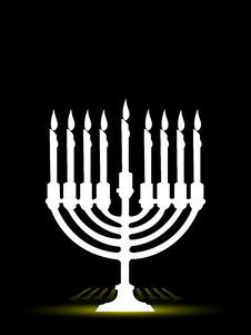 Free Menorah Royalty Free Stock Image - 5520406