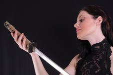 Free Woman With Katana Stock Photos - 5520493