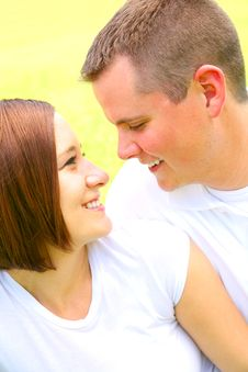 Free Happy Young Caucasian Couple Royalty Free Stock Image - 5520886