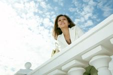 Free Beauty Woman On Historic Building Royalty Free Stock Photo - 5520905