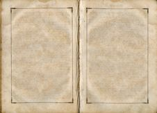 Free Old Book Open On Both Blank Pages. Royalty Free Stock Photos - 5520908