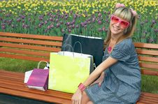 Free Beauty Shopping Blonde Girl Stock Photography - 5521182