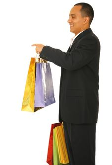 Free Shopper Pointing Royalty Free Stock Photos - 5521488