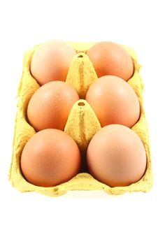Free Brown Eggs In Yellow Box Royalty Free Stock Photo - 5521665