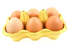 Free Eggs In A Box Stock Image - 5521671