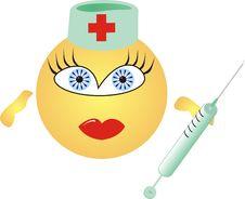 Free Nurse With Syringe Stock Images - 5522084
