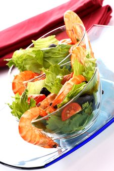 Free Shrimp Salad Stock Photography - 5522222