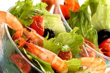 Free Fresh Shrimp Salad Royalty Free Stock Photos - 5522358