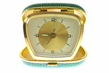 Free Old Golden Clock Stock Photo - 5522360