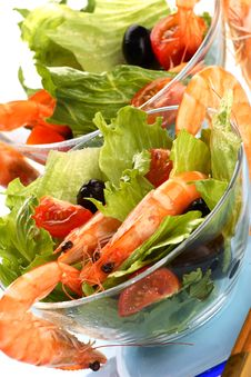 Free Shrimp Salad Royalty Free Stock Images - 5522399