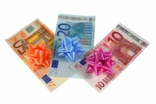 Free Colored Euro Banknotes Money Stock Images - 5522454
