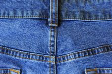Blue Jean Seams Royalty Free Stock Images