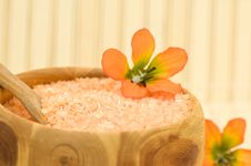 Free Aromatic Bath Salt Royalty Free Stock Photography - 5522827