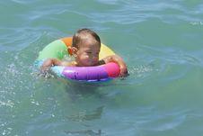 Free Swimming Baby Royalty Free Stock Image - 5523396