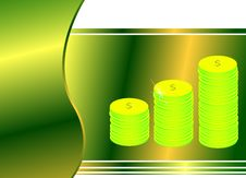 Free Green Gradient Background With Money Royalty Free Stock Images - 5523539
