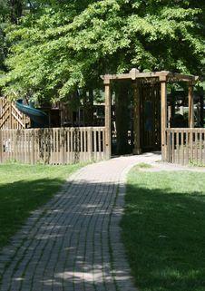 Free Playground Entrance Royalty Free Stock Image - 5524366