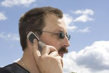 Free A Man With Mobile Phone Stock Photography - 5524782