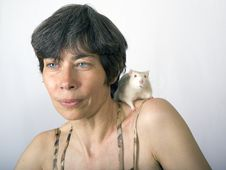 Free Woman With Rat Stock Photos - 5524833