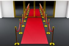 Free Red Carpet Entrance Stock Images - 5525224