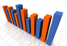 Free 3-D Business Bar Graph Stock Photo - 5525380
