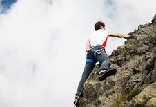 Free Mountain Climbing Royalty Free Stock Photos - 5526838