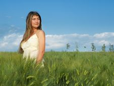Free Girl In Field Stock Photo - 5526880