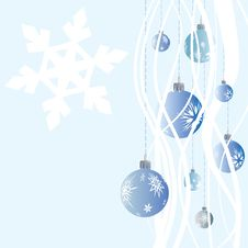 Winter Christmas Balls With Snowflakes Royalty Free Stock Images