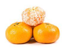 Free 3 Tangerines Isolated Royalty Free Stock Photos - 5527138