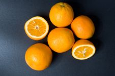 Free Six Orange Fruits Royalty Free Stock Photos - 5527398
