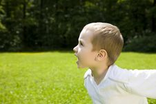 Free Happy Time. Running Kid. Stock Photos - 5527893