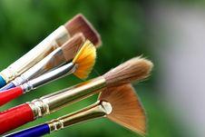 Finest Paintbrushes Stock Photo