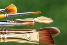 Finest Paintbrushes Royalty Free Stock Photo