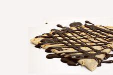 Free Crepe With Chocolate Sauce Stock Image - 5528391