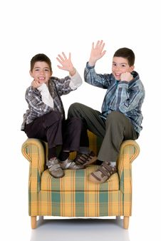 Free Two Happy Brothers Royalty Free Stock Image - 5528786